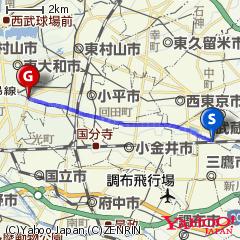 玉川上水(三鷹駅〜小川橋(小平市))ルート