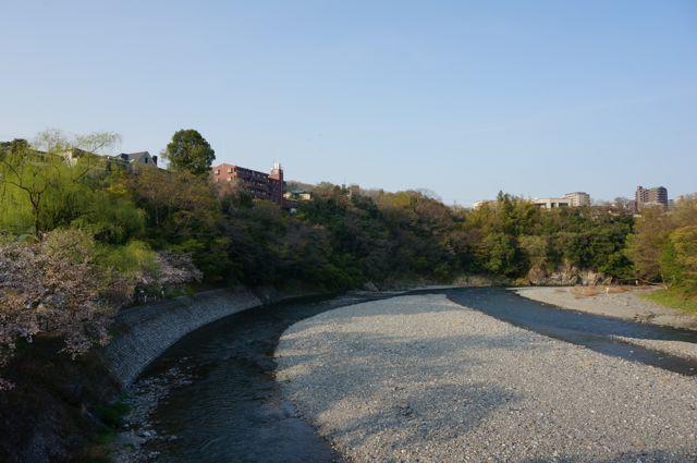 柳淵橋の上から見た多摩川下流