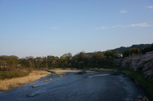 鮎美橋から見た多摩川下流