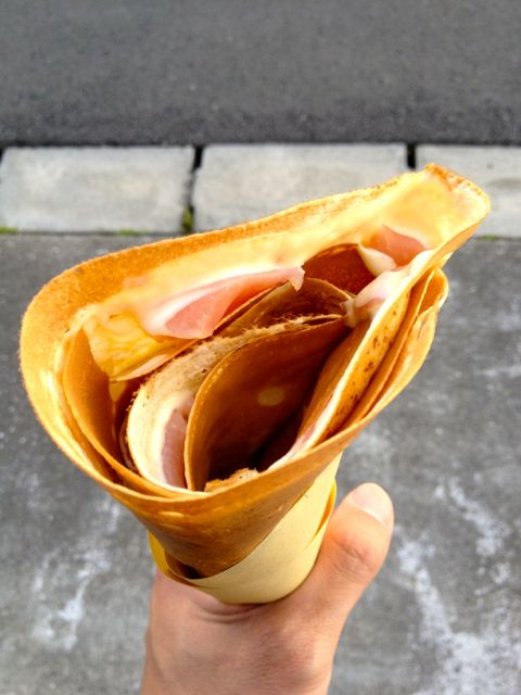 生ハムチーズクレープ
