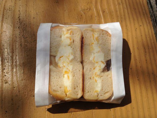 オレンジクリームチーズベーグルサンド