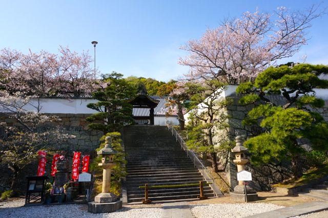 西國寺金堂横の石段