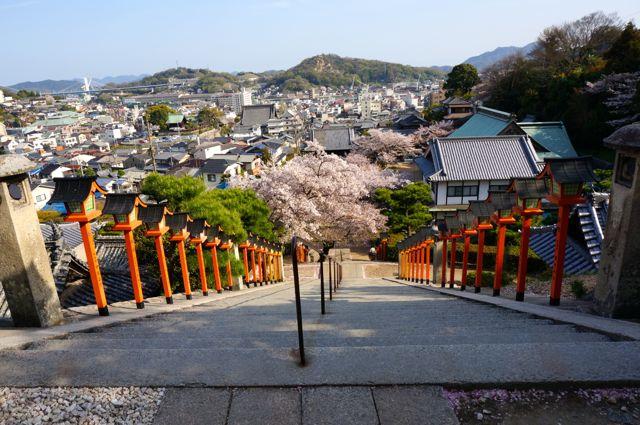 西國寺石段の上からの眺め