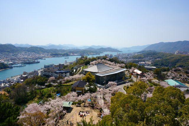 千光寺公園展望台からの眺め