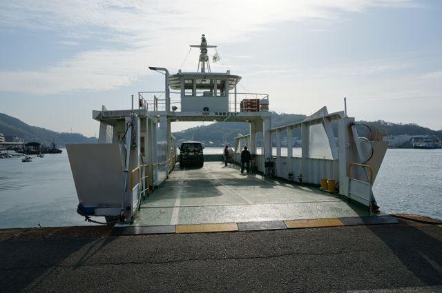 向島行き尾道渡船のフェリー