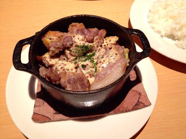 愛媛甘とろ豚と季節野菜のマスタードソース
