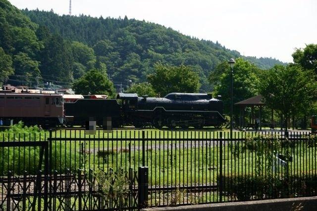碓氷峠鉄道文化むらのD51蒸気機関車