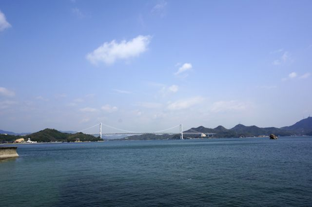 因島から見た因島大橋