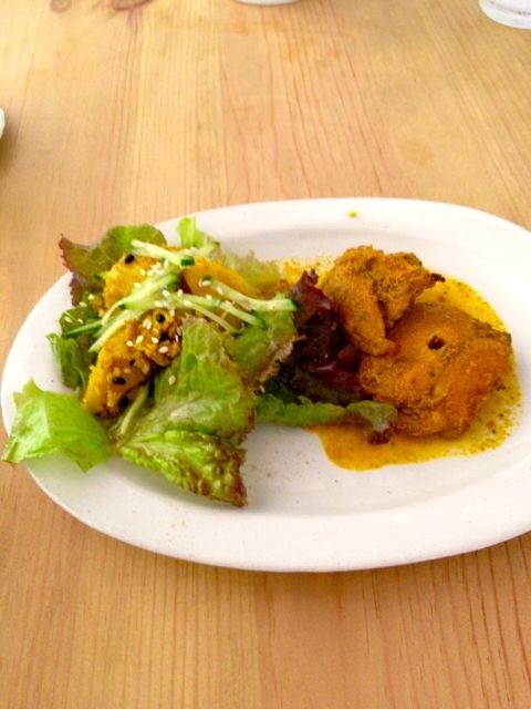 ネパールサラダとチキンティッカ