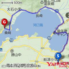 河口湖駅〜レイクベイク〜もみじトンネルルート