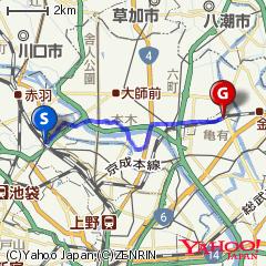 王子駅〜亀有駅ルート