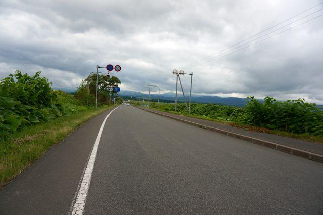 旭川空港から国道237号への道