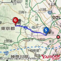 三鷹駅〜へそまんじゅう総本舗ルート