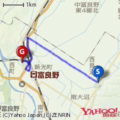 鳥沼公園〜富良野スポーツセンタールート