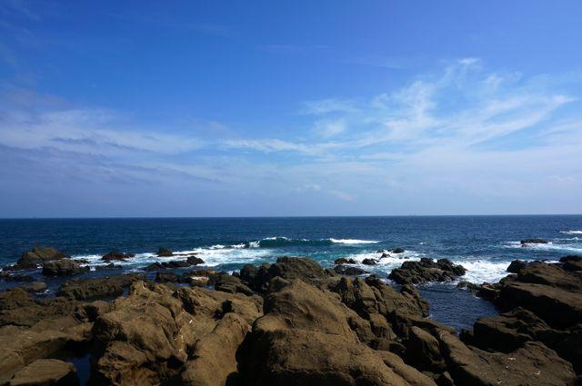 房総半島最南端の海