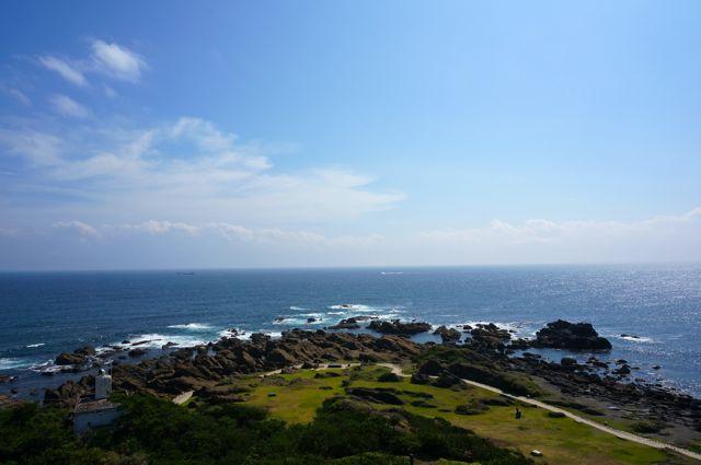 野島埼灯台からの眺め・房総半島最南端