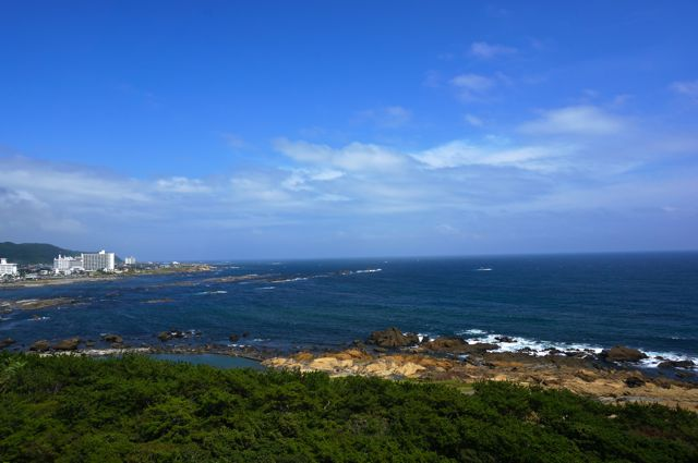 野島埼灯台からの眺め・東