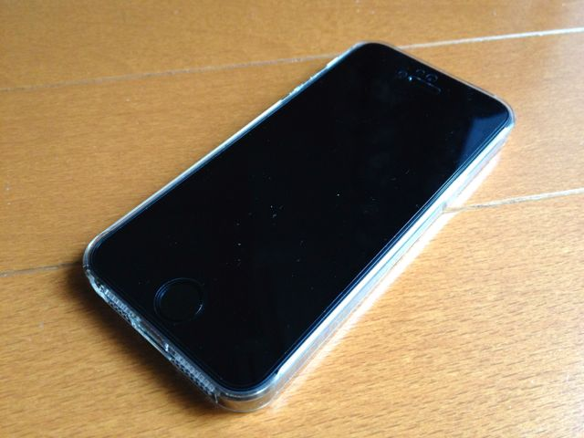 iPhone 5sにエアージャケットを装着