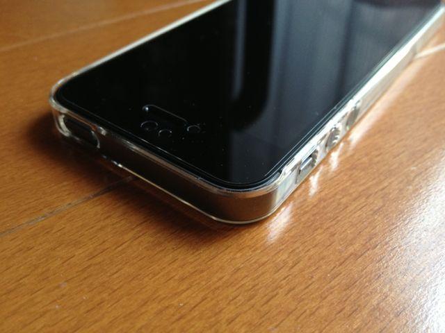 iPhone 5sにエアージャケットを装着・上部