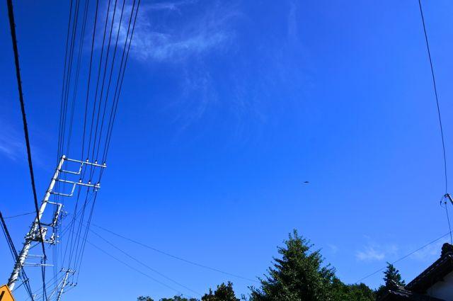 国道118号から見た青い空