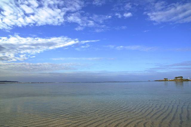 海洋博公園内の砂浜