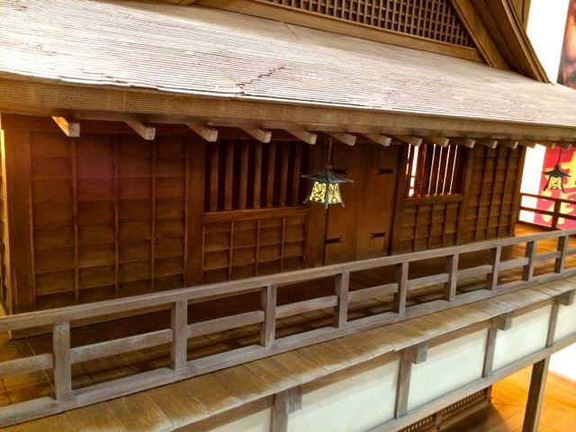 清須城模型のアップ