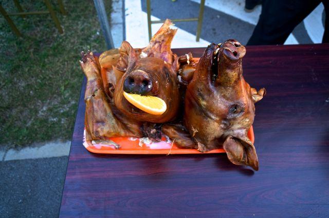 豚の丸焼き・解体後
