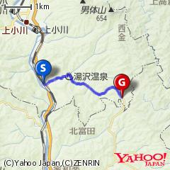 西金駅〜奥久慈パノラマライン入口ルート