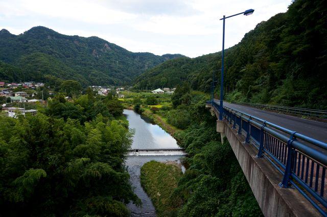 滝川の眺め