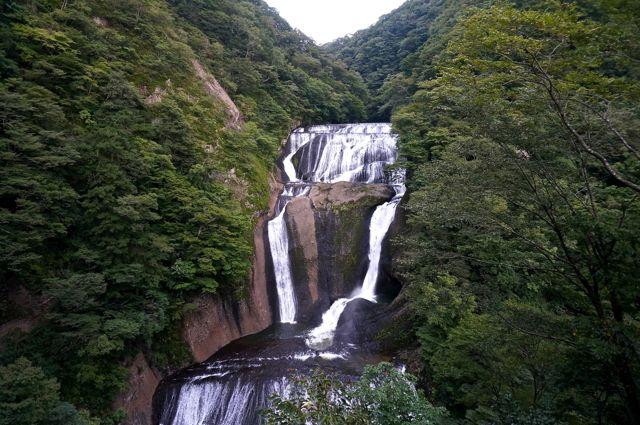 第2観瀑台から見た袋田の滝