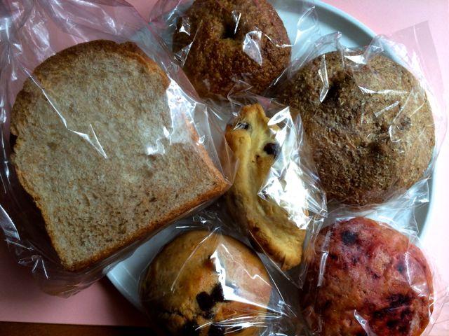 青山パン祭りで収穫したパン
